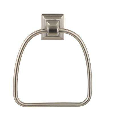 Stonegate Towel Ring in Satin Nickel