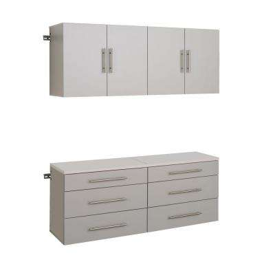 HangUps 72 in. H x 60 in. W Light Gray Wall Mounted Storage Cabinet Set F