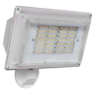 180 Degree White Outdoor Integrated LED Wall Pack Light