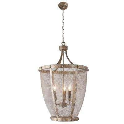 Blakely 3-Light Weather Silver Chandelier with Mesh Shade