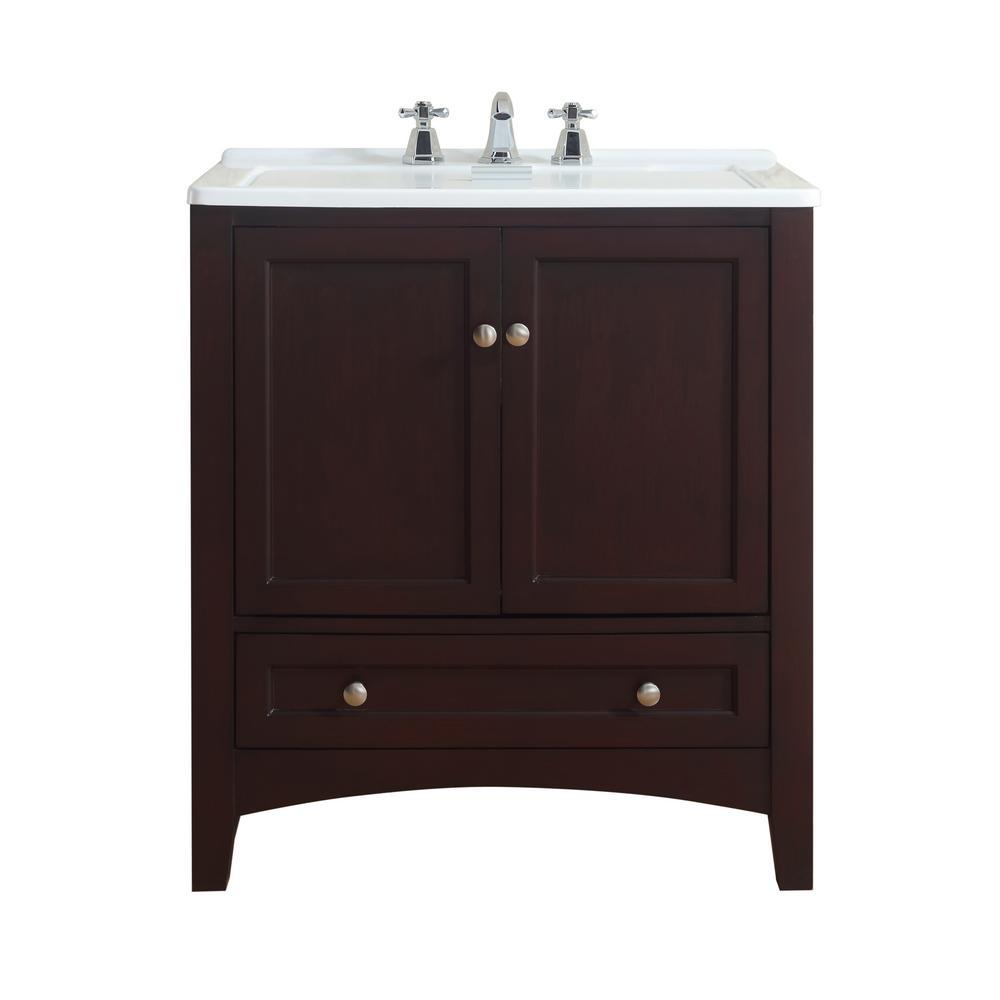 Espresso Acrylic Drop In Laundry Utility Sink
