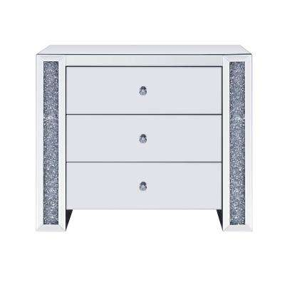 Noralie Mirrored and Faux Diamonds Console Table