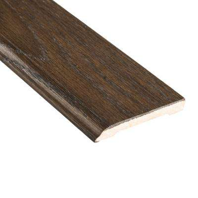 Smoked Gray Acacia 1/2 in. Thick x 3-1/2 in. Wide x 94 in. Length Wall Base Molding