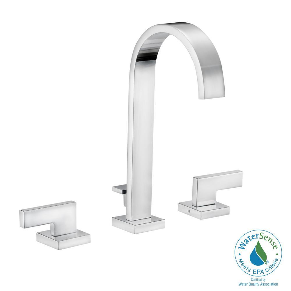 DesignHouse Design House Karsen 8 in. Widespread 2-Handle High-Arc Bathroom Faucet in Polished Chrome
