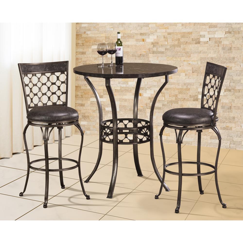 Hillsdale Furniture Santa Fe 30 in Distressed Espresso  : charcoal blue stone hillsdale furniture bar stools 5752 831 641000 from www.homedepot.com size 1000 x 1000 jpeg 124kB