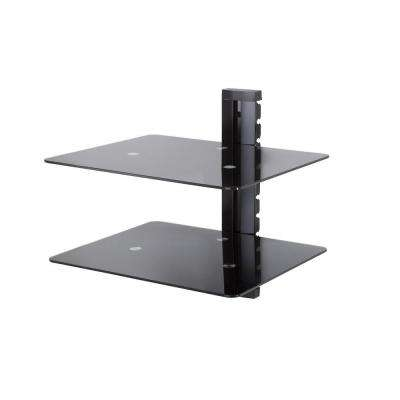 Wall Mounted AV Component Shelving Bracket, 2 Shelf