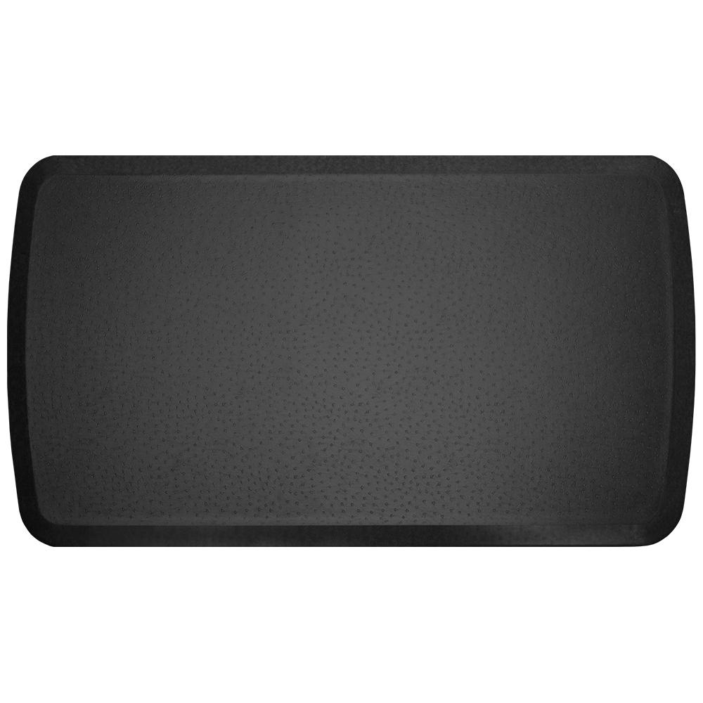 Elite Quill Black 20 in. x 36 in. Comfort Kitchen Mat