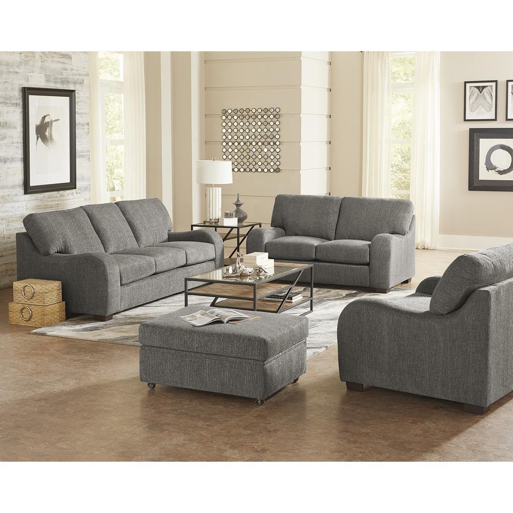 Nora Salt and Pepper Chenille Upholstered Sofa