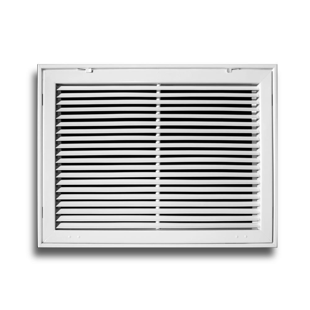 Everbilt 24 in. x 24 in. Aluminum Fixed Bar Return Air Filter Grille