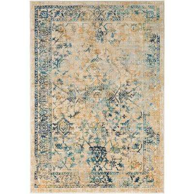 Tharunaya Teal 7 ft. 10 in. x 10 ft. 3 in. Area Rug