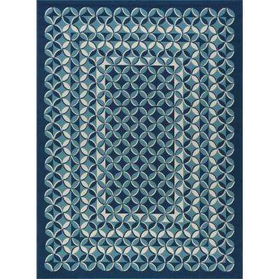 Kaleido Navy 5 ft. x 7 ft. Indoor/Outdoor Area Rug