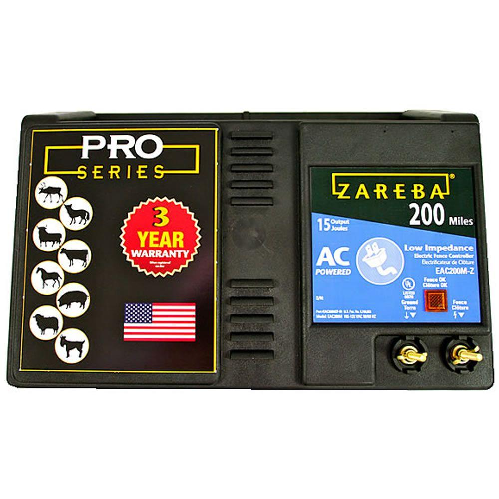 Zareba 200-Mile AC Powered Low-Impedance Charger
