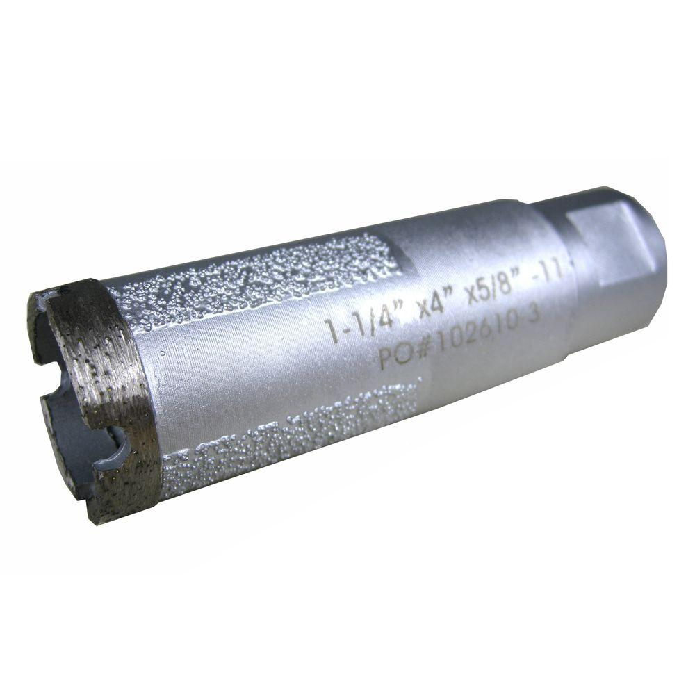 1-1/4 in. Wet Diamond Core Bit with Side Strips for Granite