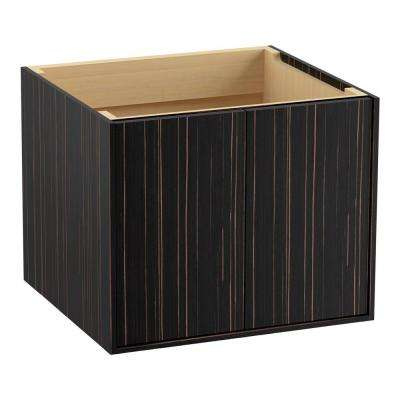 Jute 24 in. Vanity Cabinet Only in Ebony Velour