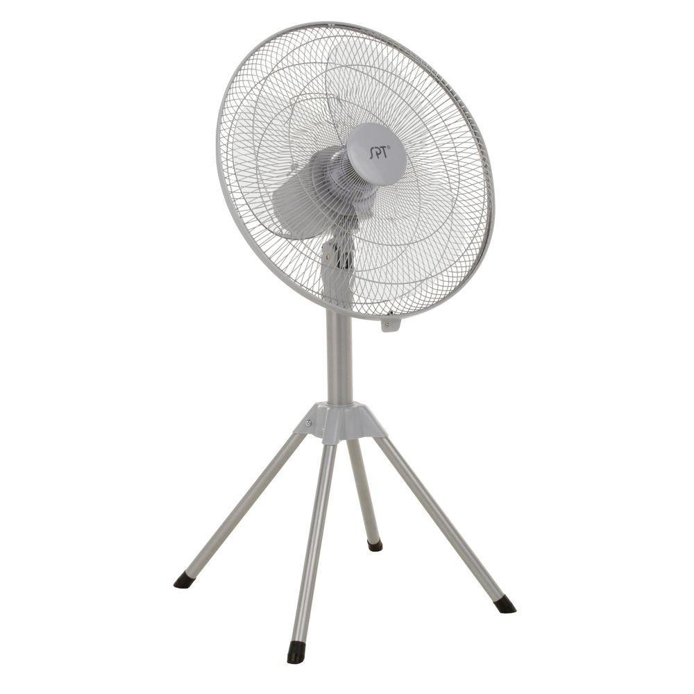 SPT 18 in. Heavy-Duty Adjustable-Height Oscillating Pedestal Fan