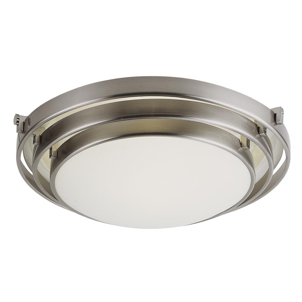 Stewart 2-Light Brushed Nickel Flushmount