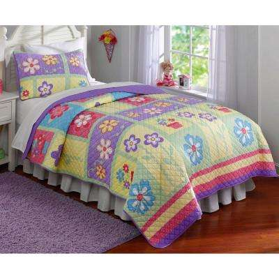 Sweet Helena Twin Quilt with Pillow Sham