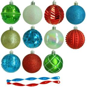 3 in. Alpine Holiday Shatter-Resistant Ornament (75-Count)