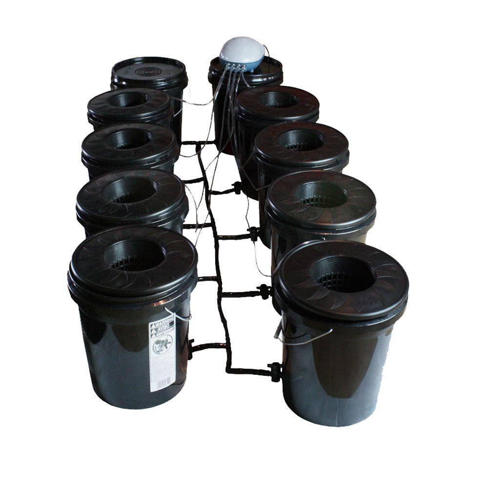 Viagrow Hydroponic Black Bucket Deep Water System (8-Pack)