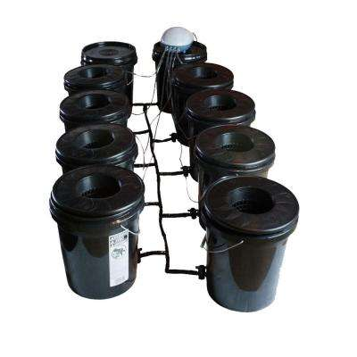 Hydroponic Black Bucket Deep Water System (8-Pack)