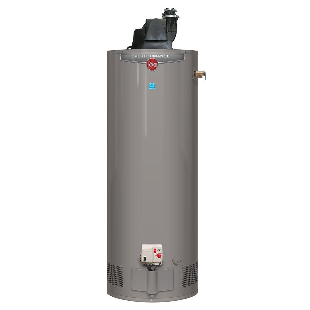 Rheem Performance 50 Gal Tall 6 Year 42000 Btu Natural Gas Power Home Depot Furnace Ac Wiring Vent Tank Water Heater Xg50t06pv42u0 The