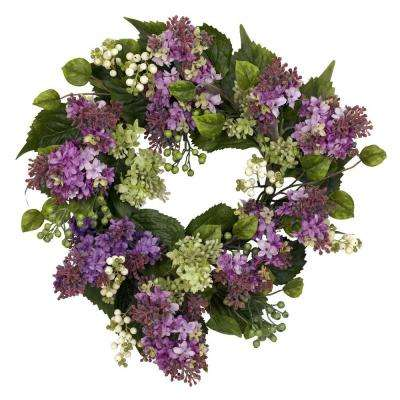 20.0 in. H Purple Hanel Lilac Wreath