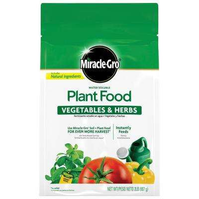 2 lbs. Miracle Gro Water Soluble Veggie and Herb Plant Food