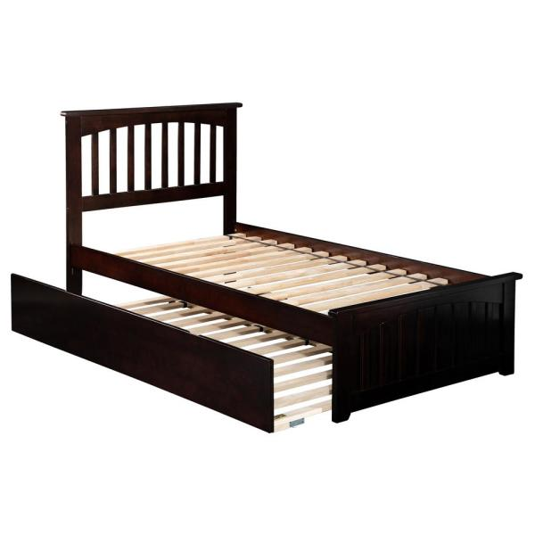 Atlantic Furniture Mission Espresso Twin Platform Bed with Matching Foot Board