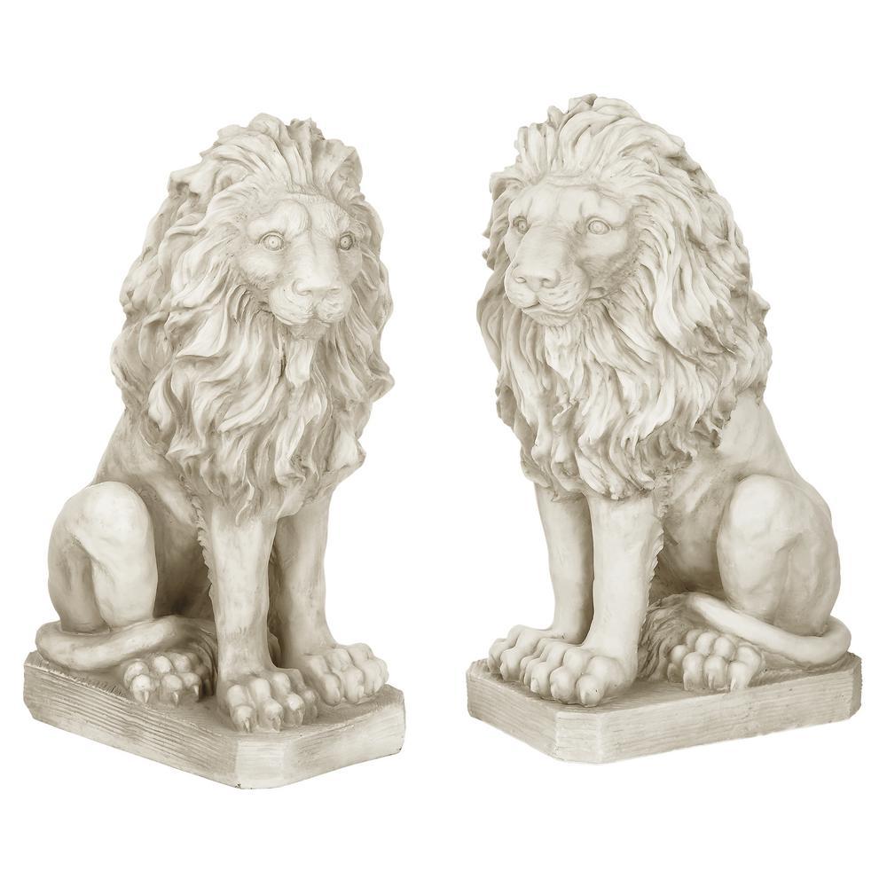 Design Toscano Mansfield Manor Lion Sentinel Left And