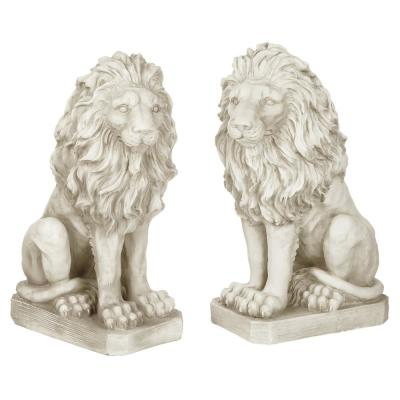 Mansfield Manor Lion Sentinel Left and Right Statue Set (2-Piece)