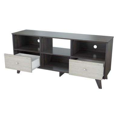 Tobacco Brown/Cream TV Stand