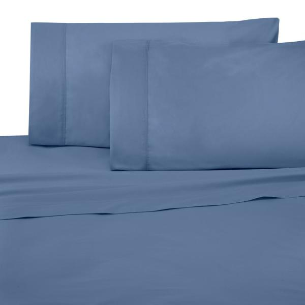 Under The Canopy Brushed Organic 3-Piece Blue Twin XL Sheet Set