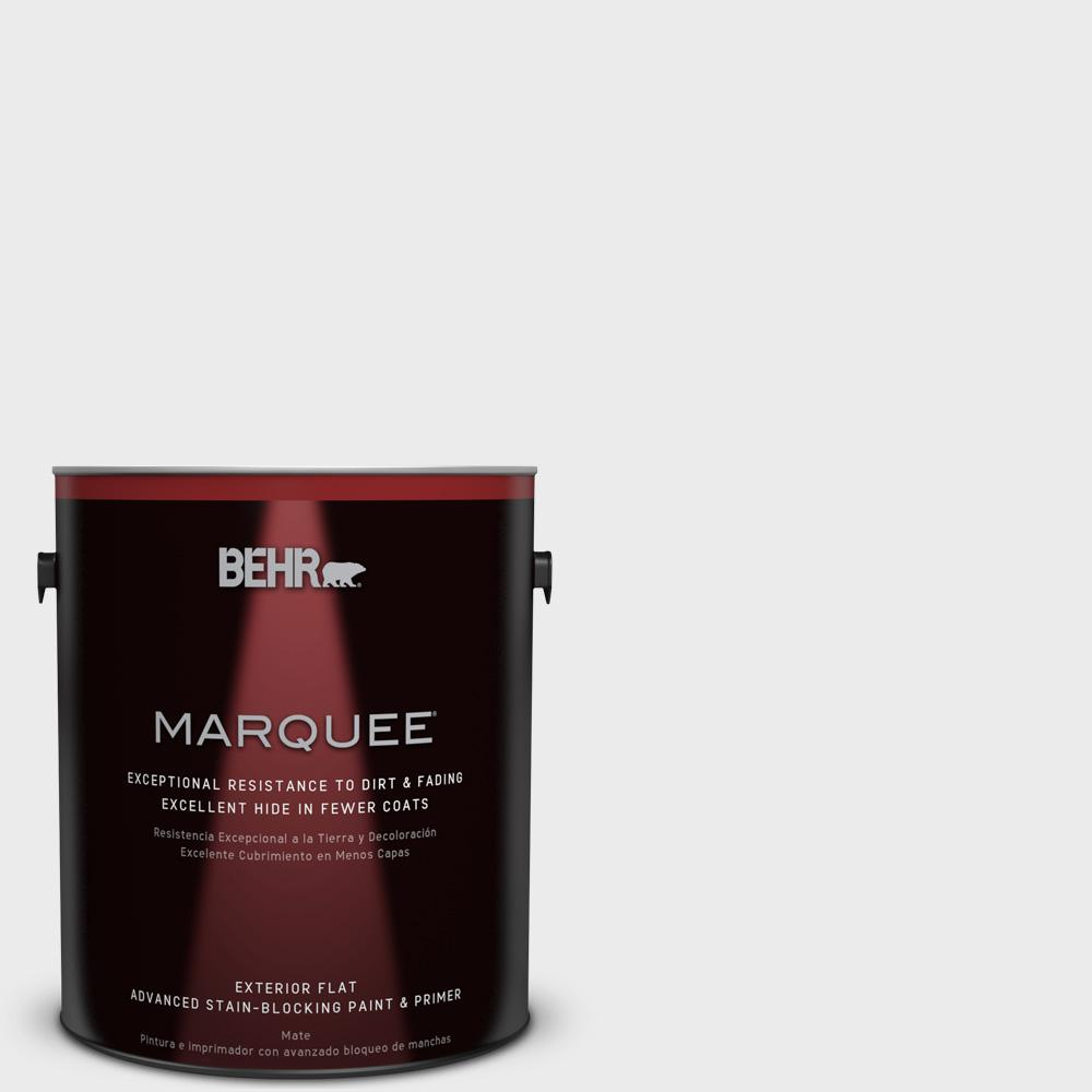 1-gal. #640E-1 Silver Chalice Flat Exterior Paint