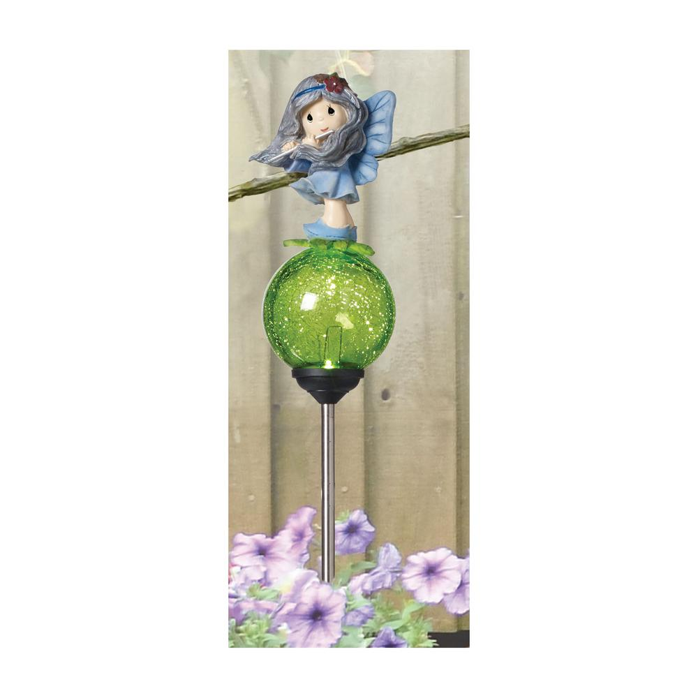 Forest Fairy 25 in. LED Solar Stake