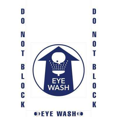 18 in. Eye Wash Station Floor Sign Kit