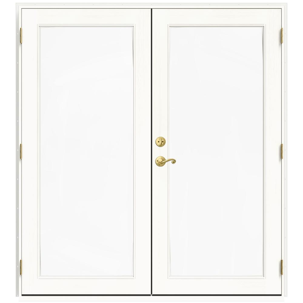 72 in. x 80 in. W-2500 White Clad Wood Left-Hand Full