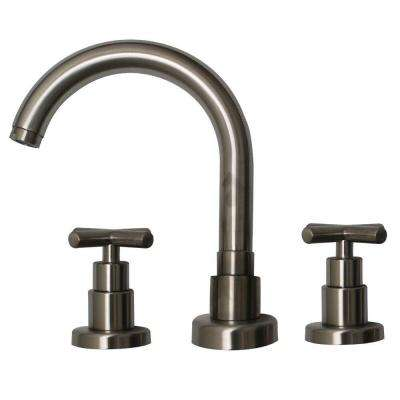 Luxe 8 in. Widespread 2-Handle Bathroom Faucet in Brushed Nickel