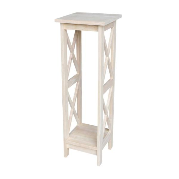 2717a81e3d5a International Concepts 36 in. H Unfinished Wood Plant Stand OT-3069X ...