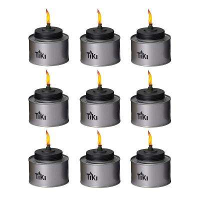 4.5 in. TIKI Tin Table Torch Silver (9-Pack)