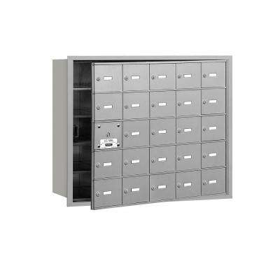 3600 Series Aluminum Private Front Loading 4B Plus Horizontal Mailbox with 25A Doors (24 Usable)