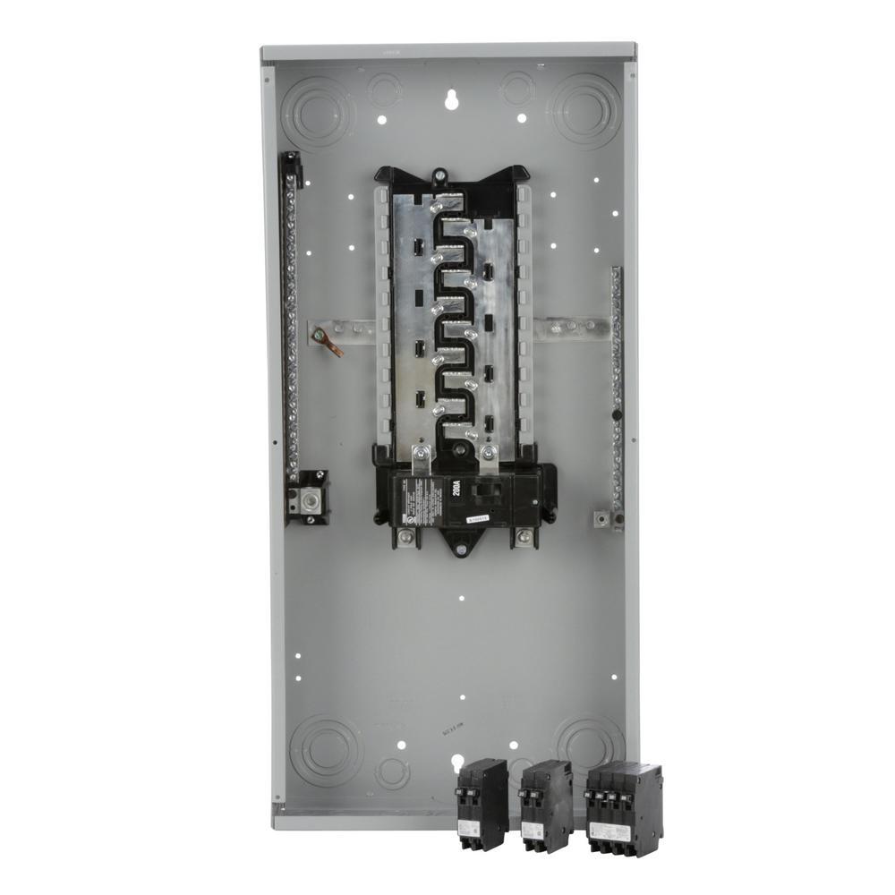 200 Amp 20 Space 40-Circuit Main Breaker Indoor Load Center Value