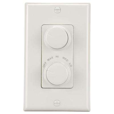 4-Speed White Light and Paddle Fan Wall Control