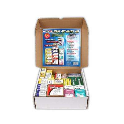 643-Piece 3-Shelf First Aid Station Refill Kit