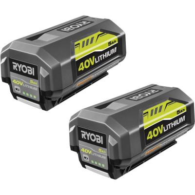 40-Volt Lithium-Ion 5 Ah High Capacity Battery (2-Pack)