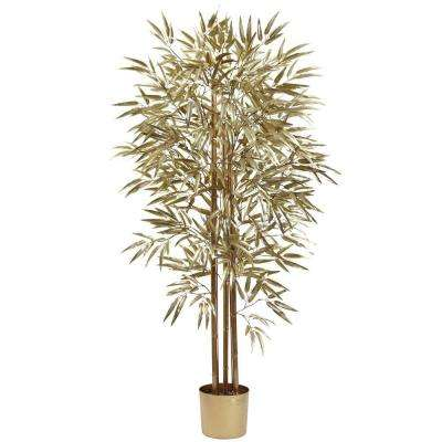 5 ft. Golden Bamboo Tree with 880 Leaves