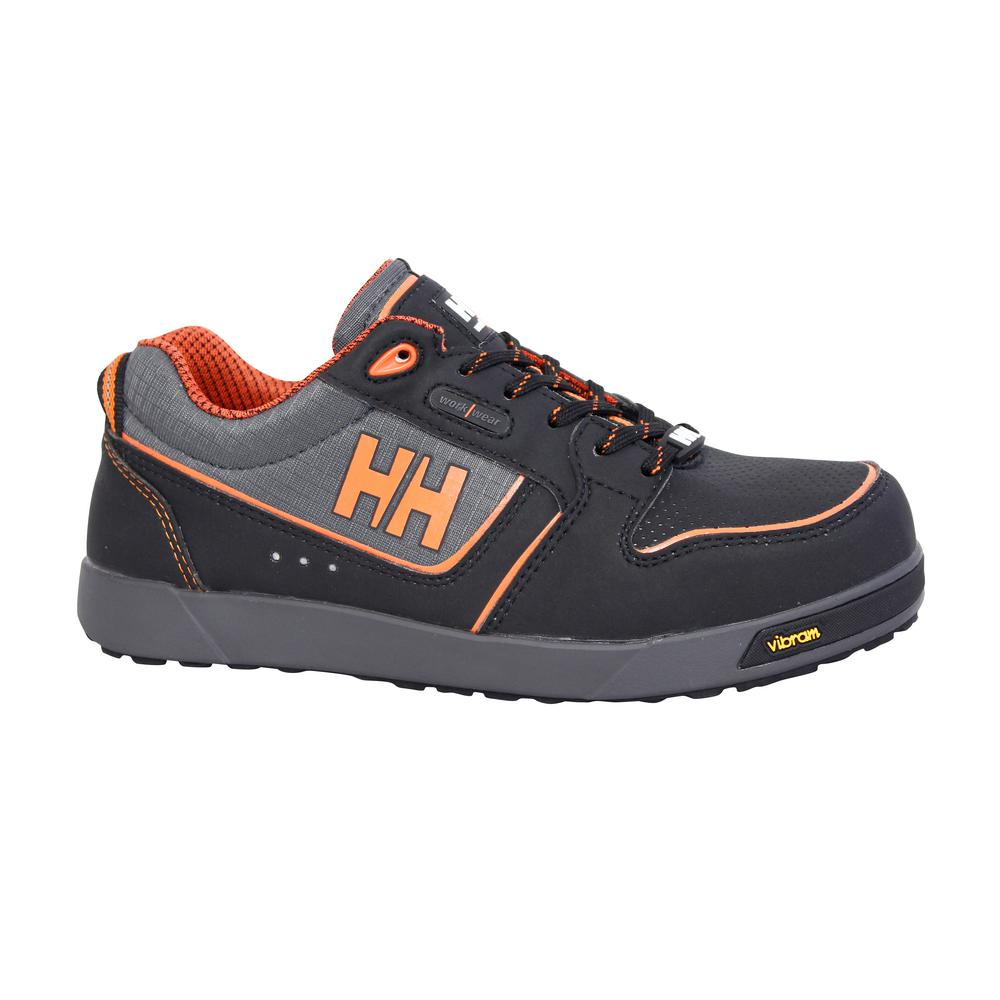 Y Hansen Vapor Men S Size 14 Black Orange Nubuck Leather Nylon Composite Toe Athletic Work Shoe Fhhc171s O1g The Home Depot