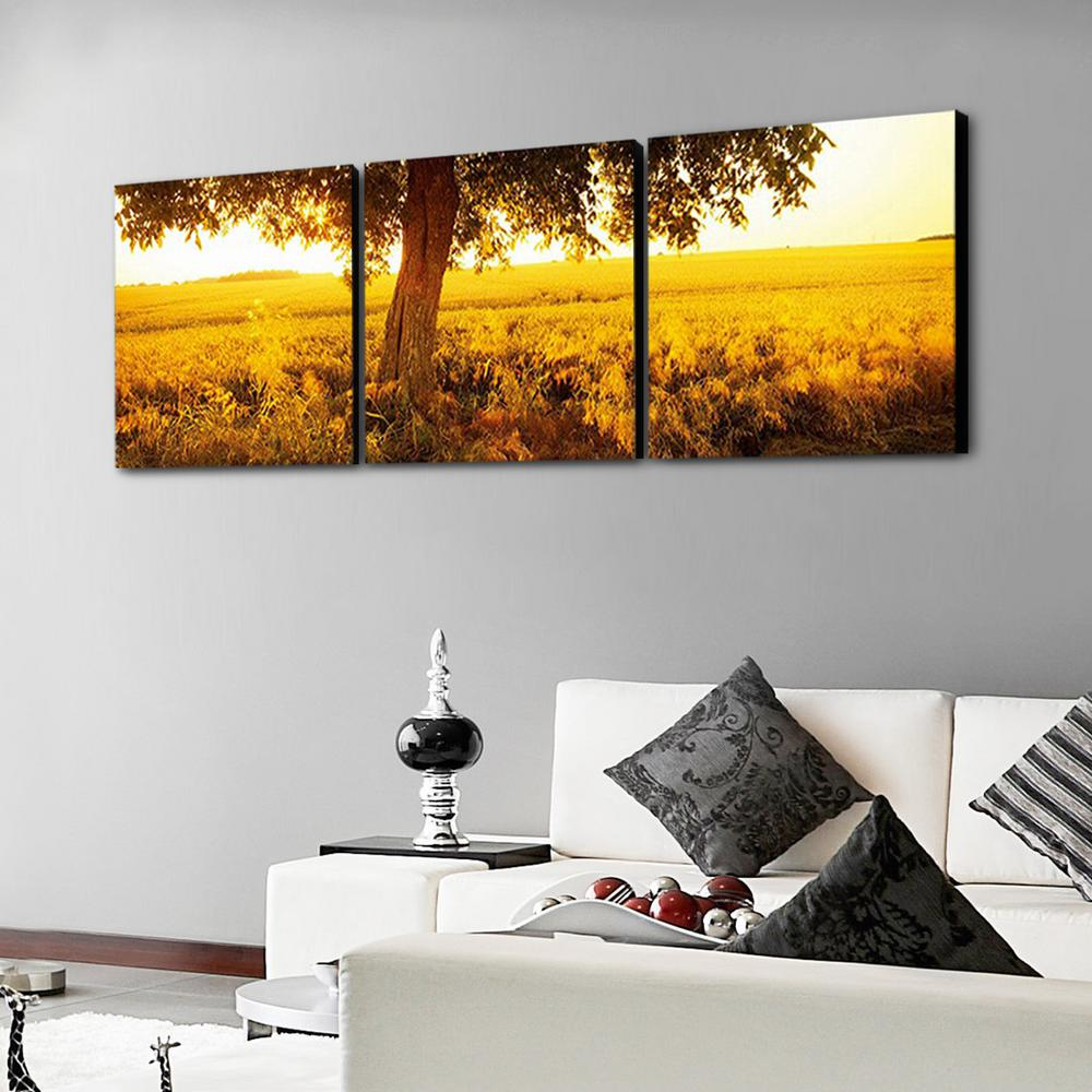 Furinno 16 In X 48 In Quot Horses On Plains Quot Printed Wall