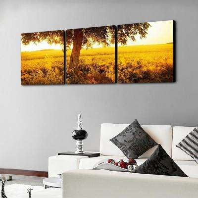 """20 in. x 60 in. """"Africa Sunrise"""" Printed Canvas Wall Art"""