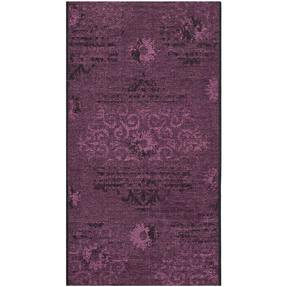 Dark Purple Rugs: Safavieh Palazzo Black/Purple 2 Ft. X 3 Ft. 6 In. Area Rug