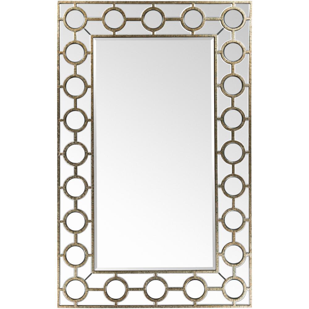 Artistic Weavers Kerri 60 in. x 38 in. Traditional Framed Mirror ...